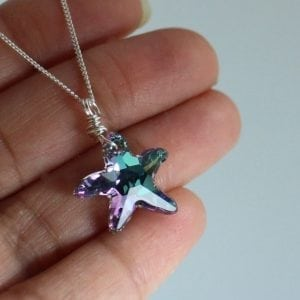 swarovski star crystal necklace